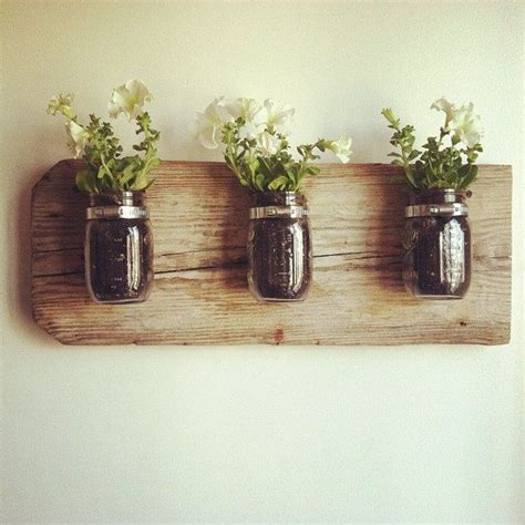 mason jar wall planter i d e a s pinterest