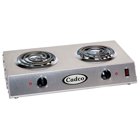 Countertop Stove Electric by Cadco Cdr1t Countertop Electric Range 2 6 Quot Burners