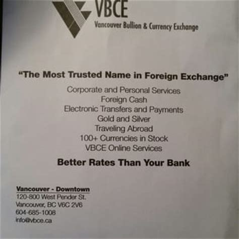 currency converter vancouver vancouver bullion currency exchange currency exchange