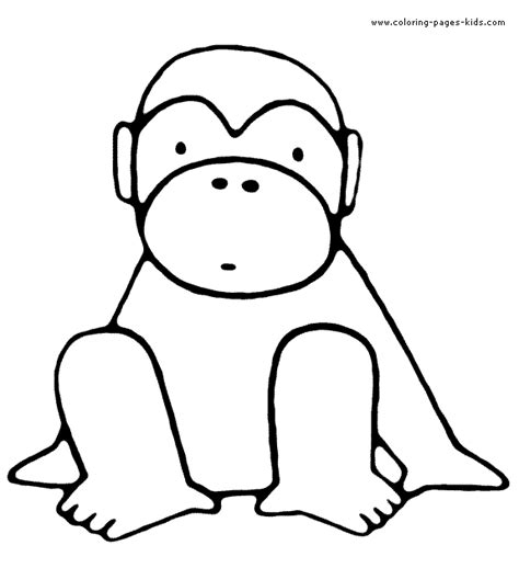 simple monkey coloring pages monkey simple color page