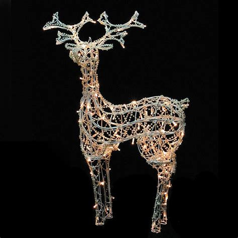 outdoor beaded effect standing led reindeer light light