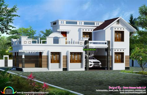 1880 sq ft west facing home kerala home design and floor