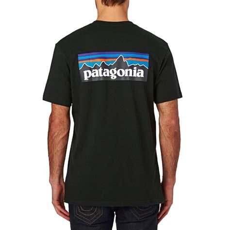 T Shirt 6 patagonia s p 6 logo cotton t shirt black free uk delivery