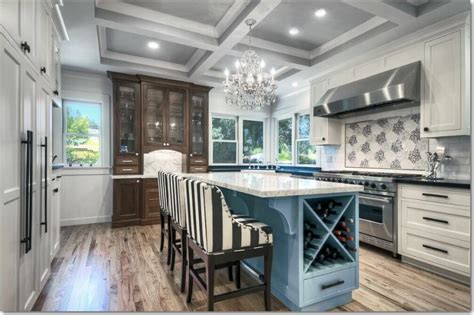 white and blonde wood kitchen blue feature wall interior 41 white kitchen interior design decor ideas pictures