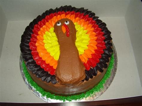 Thanksgiving Cake Decorating Ideas by Thanksgiving Turkey Cake Recipe Dishmaps