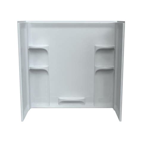 bathtub wall surrounds american standard ovation 30 in x 60 in x 58 in 3 piece