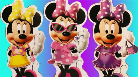 Dress Mickey Premium minnie mouse magnetic wooden doll set plays dress up