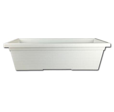 white vinyl window boxes white plastic window box