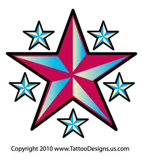 3 stars tattoo design design design rockabilly design