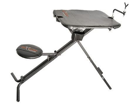 folding shooting bench big game deluxe portable shooting bench
