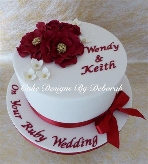 Ruby Wedding Cakes by Ruby Wedding Anniversary Cake Cake By Deborah Cakesdecor