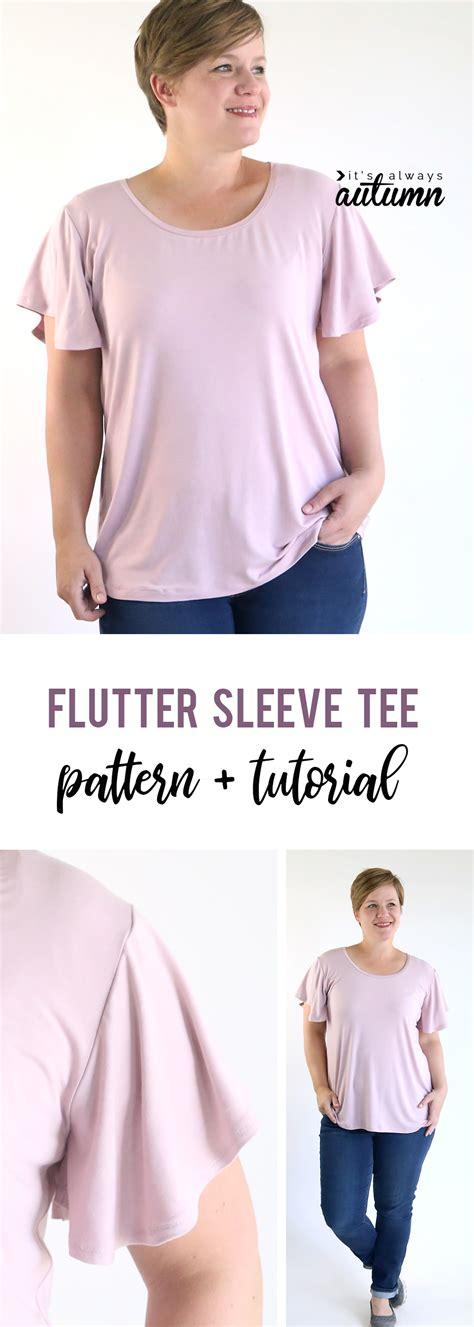 sewing patterns t shirts women s women s flutter sleeve tee shirt sewing pattern it s