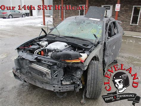 Dodge Hellcat Engine For Sale by Wrecked Dodge Charger Hellcat Shows Up For Sale Is