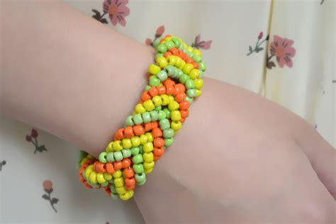 pony bead bracelet patterns how to make a pony bead cuff bracelet for golden autumn
