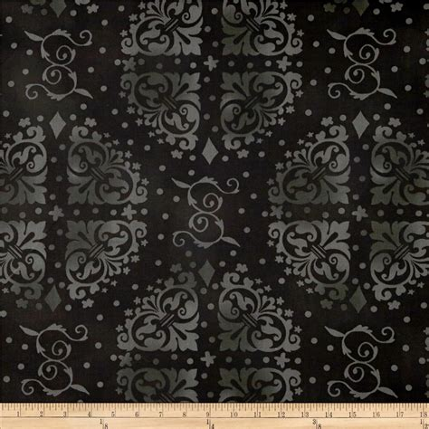 108 quot wide quilt backing medallion tonal black discount