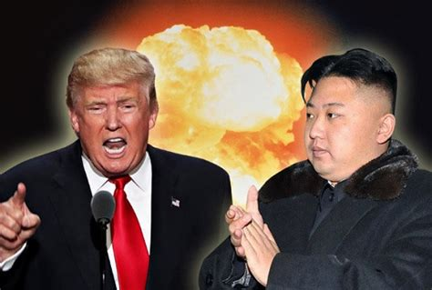donald trump vs kim jong un sudden strike on north korea but u s aircraft carrier