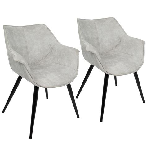 Accent Chair Set Of 2 Lumisource Wrangler Light Grey Accent Chair Set Of 2 Ch Wrng Lgy2 The Home Depot