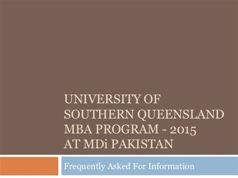 Usq Mba Project Management by Usq Mba 2015 Powerpoint