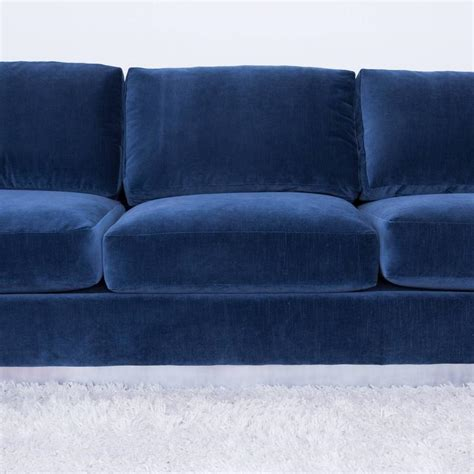 Blue Grey Sofa by Cy Mann Sofa In Grey Blue Velvet At 1stdibs