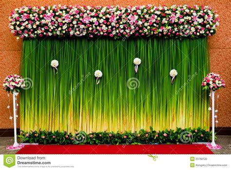 Wedding Backdrop Malaysia by Backdrop Flowers For Wedding Ceremony Stock Photo Image