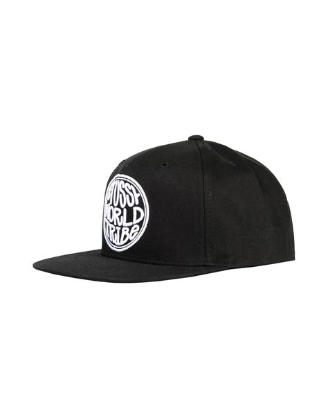 Polo Caps Stussy stussy hat in black for lyst