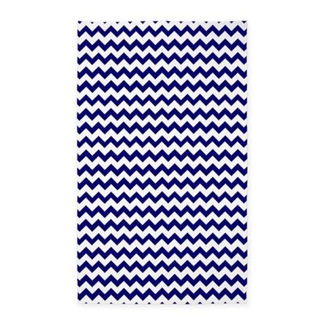 Chevron Pattern Area Rugs Chevron Pattern Navy Blue And White 3 X5 Area Rug By Cutetoboot