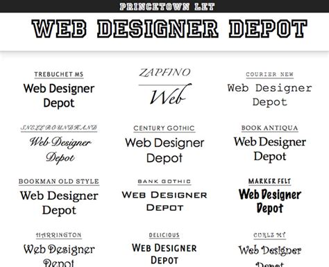 web design font name 30 of the best web typography resources online