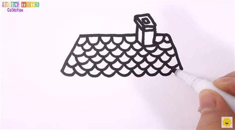 tutorial menggambar untuk anak sd teknik menggambar rumah untuk anak sd dengan mudah