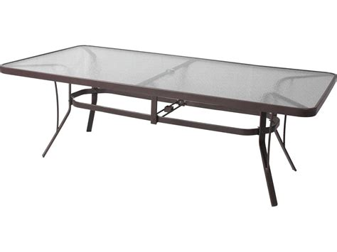 Rectangle Patio Table Suncoast Cast Aluminum 60 X 30 Rectangular Glass Top Counter Table With Umbrella 3060gkd