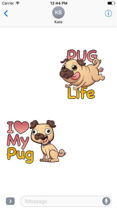 pug emoji puglife pug emoji stickers app android apk