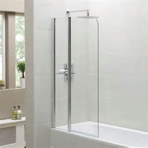 shower screens for bath april identiti2 fixed panel shower screen