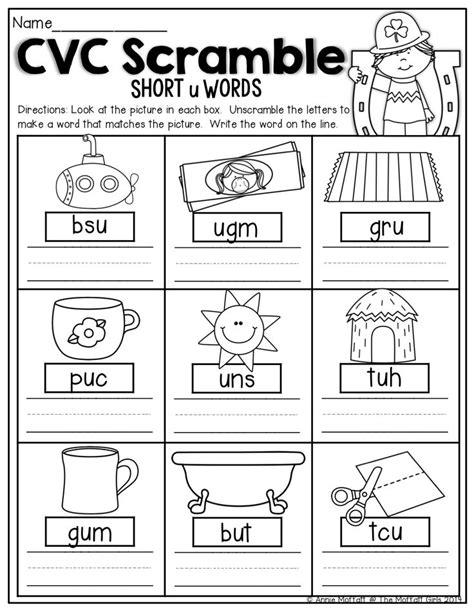4 Letter Words Phonics kindergarten phonics cvc worksheets teaching