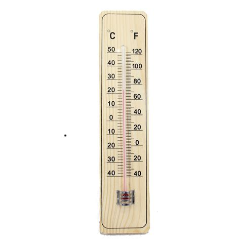 Termometer Celcius wooden garden home thermometer 9 quot fahrenheit celsius in temperature gauges from home garden on