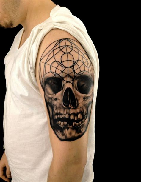 tattoo geometric skull geometric animal skull and skull tattoos real photo