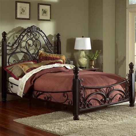 steel beds largo metal beds 1195q queen diana bed great american home store headboard footboard