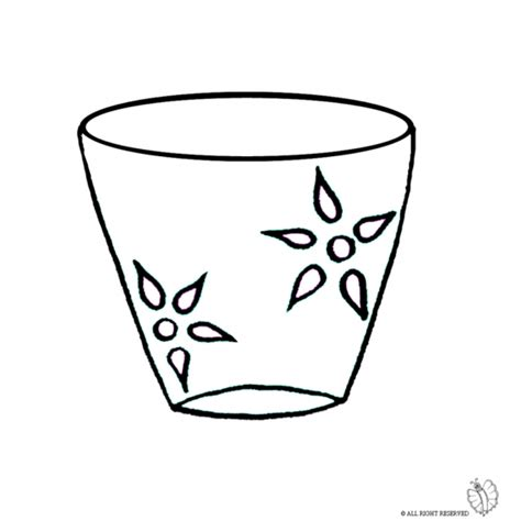 disegno vaso di fiori disegno di vaso da colorare per bambini