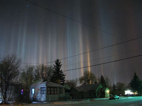 light pillars file light pillars over laramie wyoming in winter night jpg