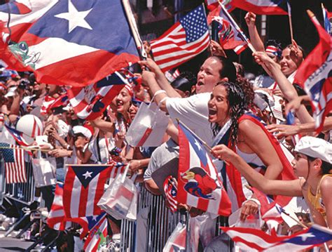 puerto rican people celebrating the 54th annual puerto rican heritage festival
