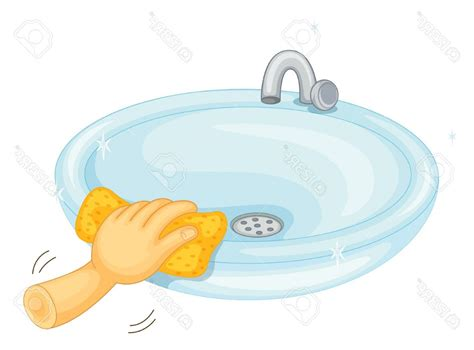clean bathroom sink kids cleaning bathroom clipart