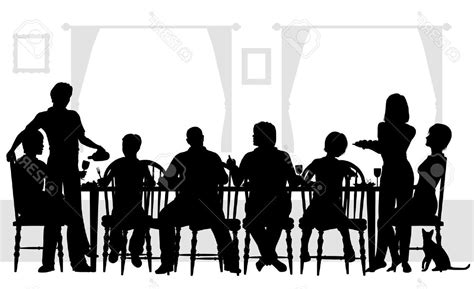 dinner silhouette hd dinner silhouette vector drawing 187 free vector art