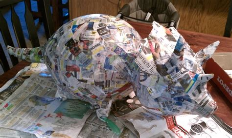 How To Make A Paper Mache Dinosaur Sculpture - paper mache dinosaur pinata in the works the loved