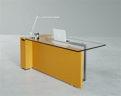 bancone reception ufficio bancone da reception con piano in vetro e base in metallo