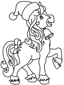 christmas horse colouring pages