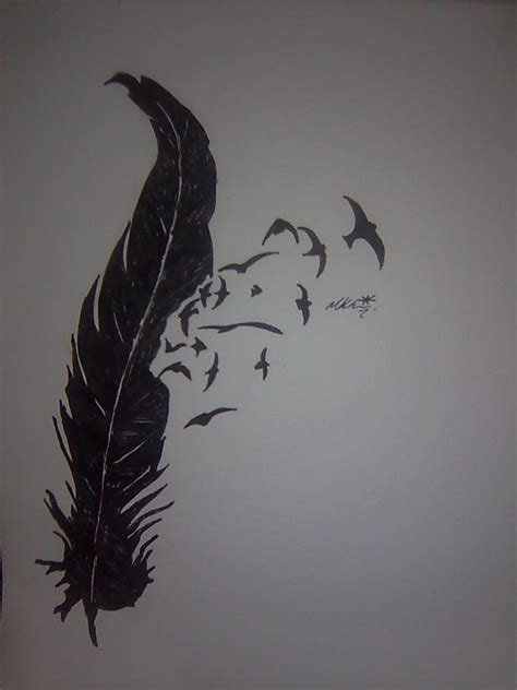 bird and feather tattoo designs birds feather design