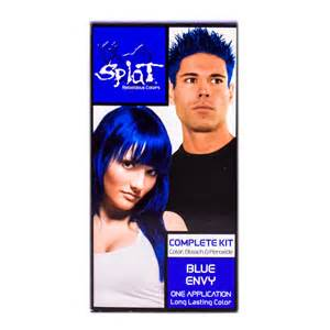 splat hair dye colors splat blue envy kit brown hairs