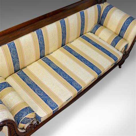 settee daybed large antique scroll end settee regency mahogany sofa