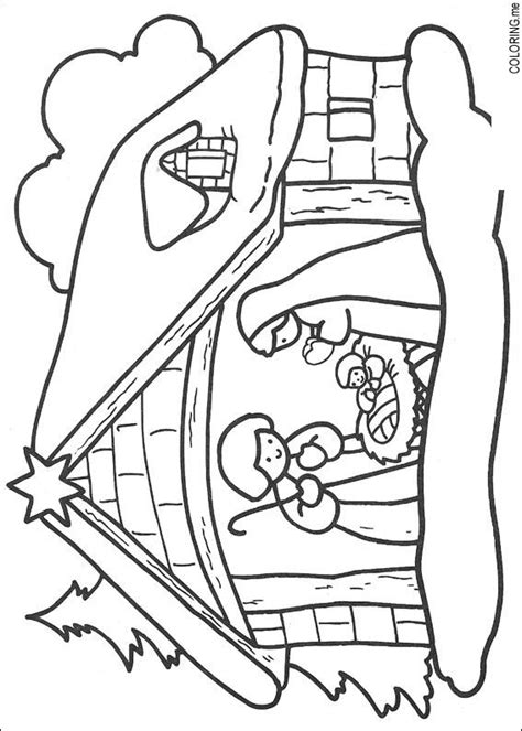 jesus is born nativity coloring page free coloring pages of jesus christ born