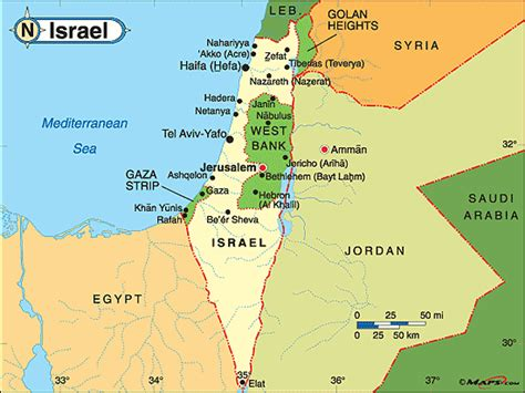 israel map today israel political map by maps from maps world s