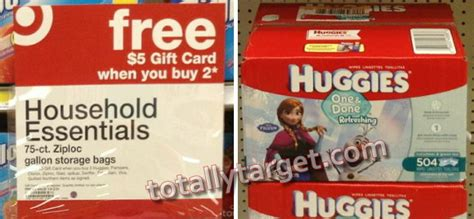 Gift Card Deals At Target This Week - great deals on diapers wipes at target this week with 25 gift card coupon wyb 100