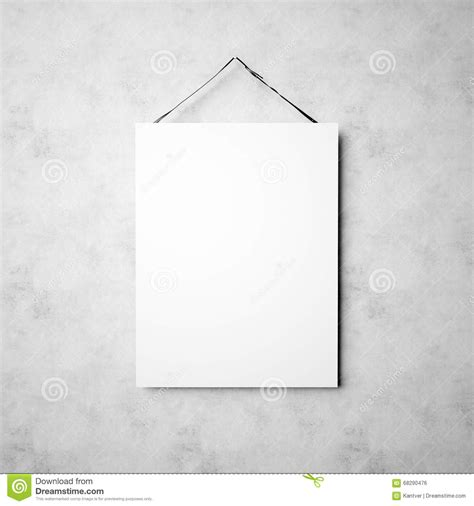 how to hang canvas photo of blank white canvas hanging on the empty concrete wall background square mockup ready